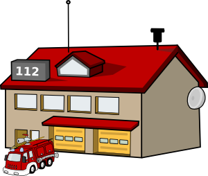 Fire Station Clipart Images, Stock Photos & Vectors | Shutterstock