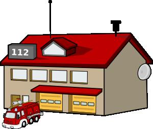 fire station clip art vector clip art online royalty free rh pinterest com Cartoon Firehouse Cartoon Firehouse