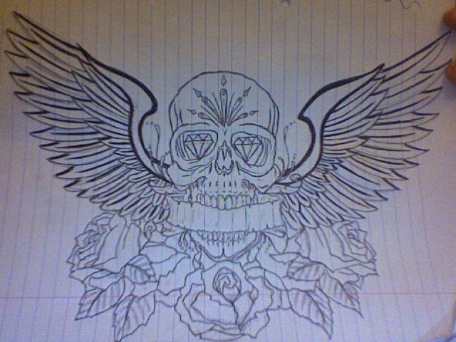 Wings Tattoo Meanings | iTattooDesigns.com  |Skull Tummy Tattoo Wings