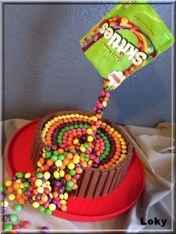 Gravity cake skittles #gravitycake