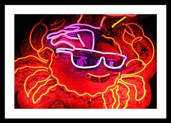 "NEON SIGN - Crab (Henderson, NV) - 8""x12"" Fine Art Photograph"