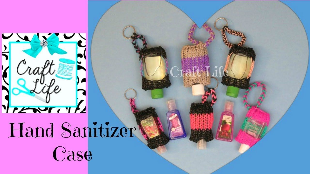46d038d1a3 Hand Sanitizer Case Rainbow Loom How-to Video Tutorial by Craft Life ...