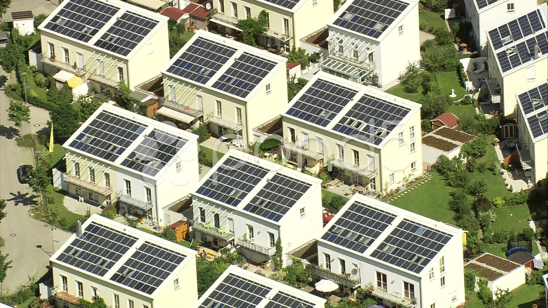 Houses With Solar Power Panels In Germany Stock Footage Power Solar Houses Panels Solar Power Panels Houses In Germany Solar House