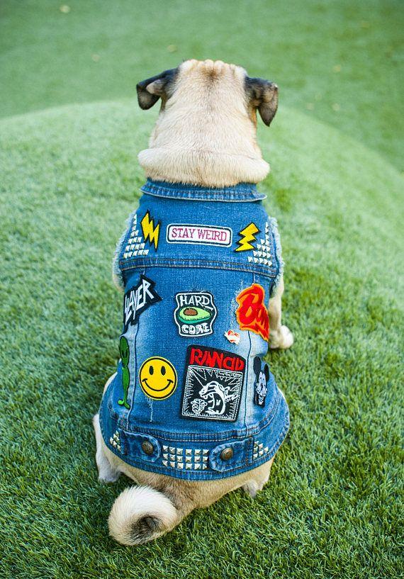 New Large Breed Denim Dog Vest Dog Denim Jacket Dog Denim With