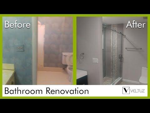 Video Bathroom Renovation Before And After WPB Veltuz - Youtube bathroom renovation