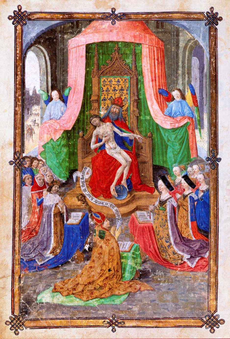 The Luton Guild Book. Frontspiece, circa 1475.