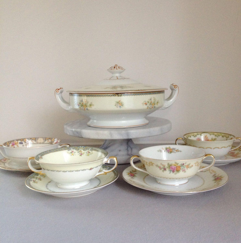 Vintage Soup Bowls,Soup Tureen,Soup Bowl with Handles,Cream Soup ...