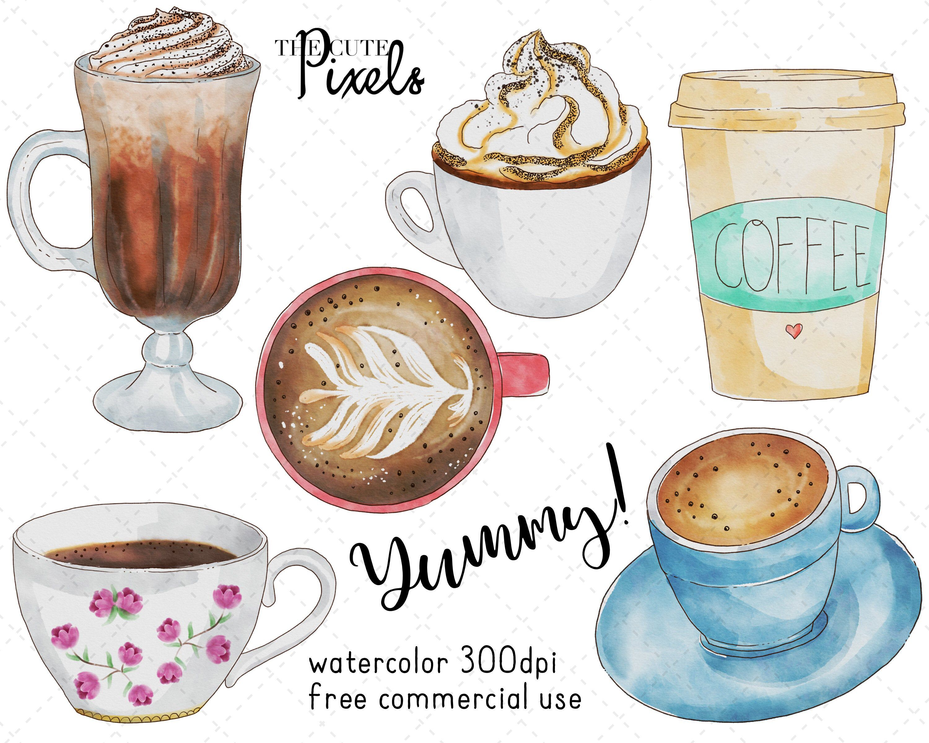 Excited To Share The Latest Addition To My Etsy Shop Watercolor Coffee Clipart Coffee Clipart Cup Of Coff Coffee Clipart Coffee Watercolor Coffee Drawing