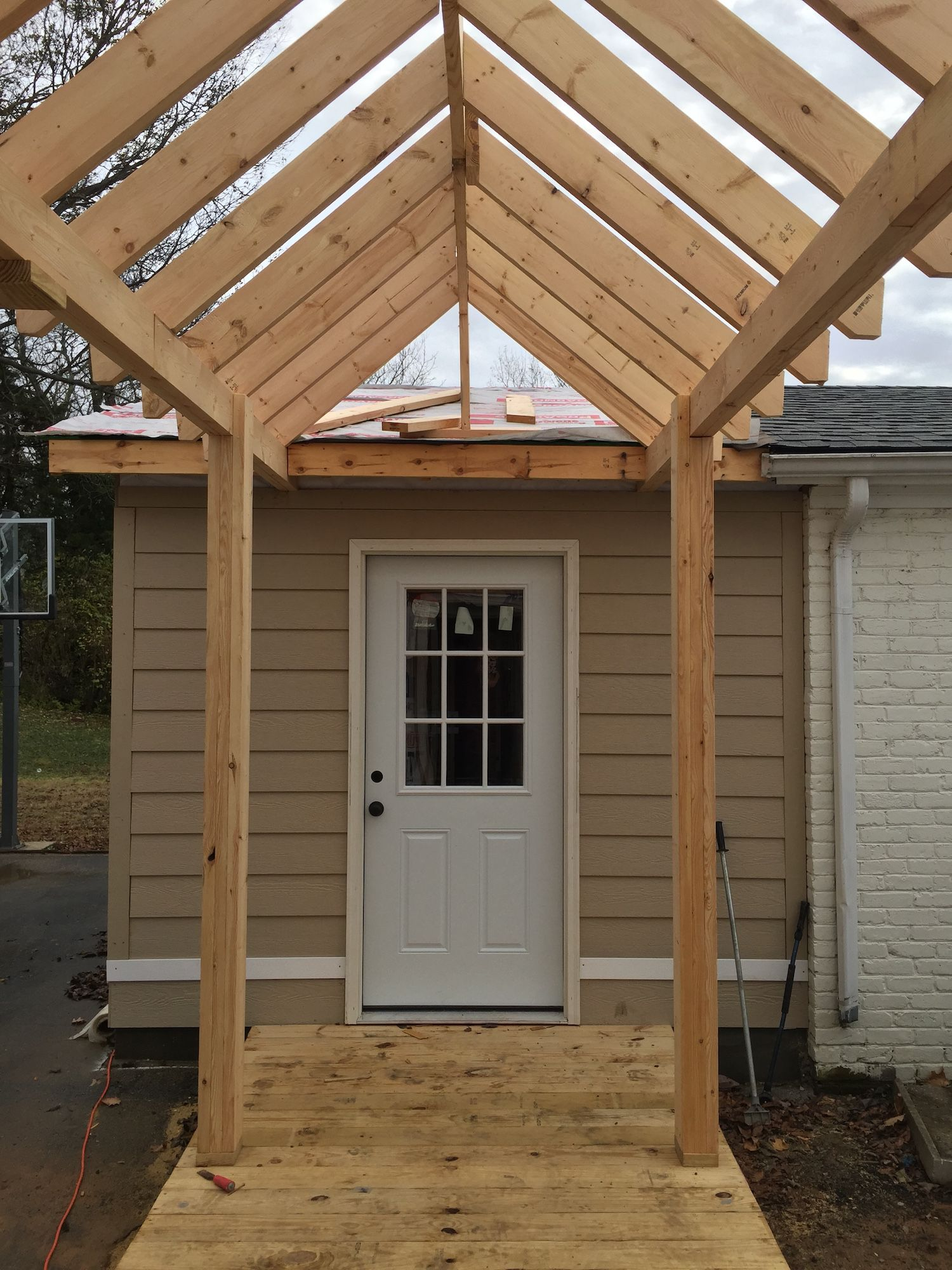 Mudroom Addition To Front Of House Yahoo Search Results: Garage Addition, Building A Deck, Metal Carports
