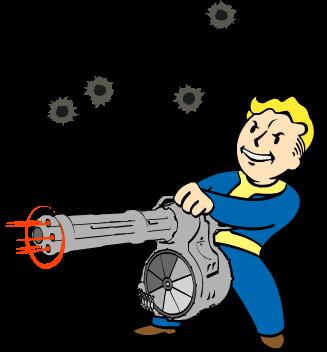 File Fo4 Heavy Gunner Png Fallout 4 Fan Art Vault Boy Fallout Fallout Art