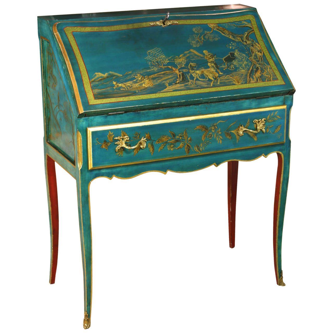 Louis XV Style Chinoiserie Slant-Top Desk   1stdibs.com - Louis XV Style Chinoiserie Slant-Top Desk The Future's Callin' My