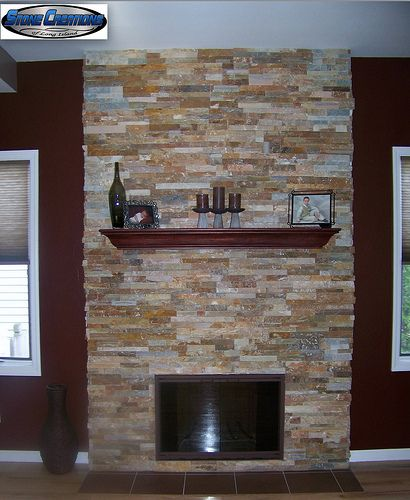 East West Stone Fireplace By Stone Creations Of Long Island