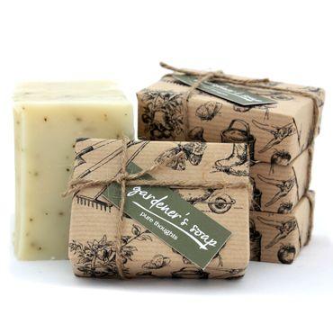 Natural soap packaging