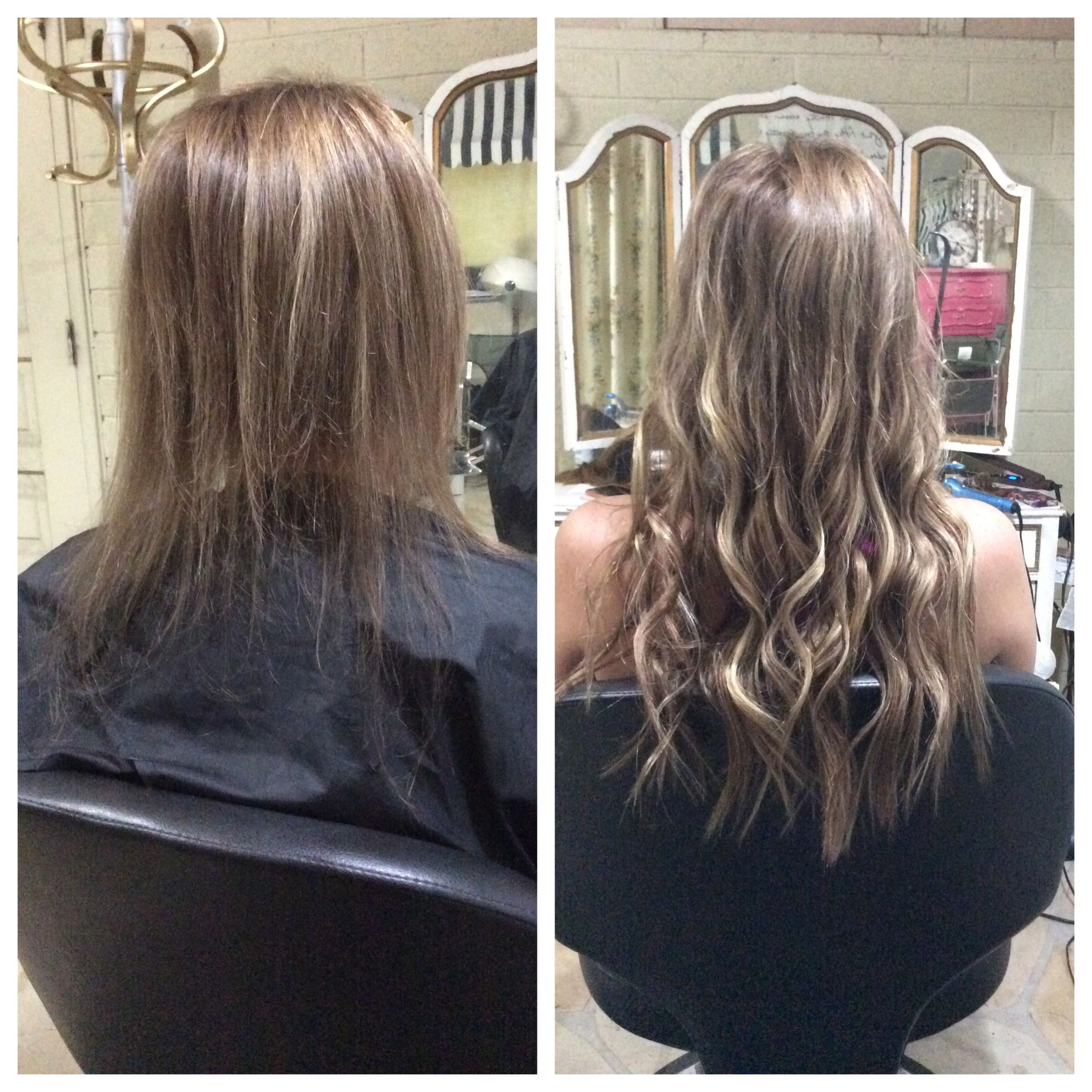 Hair Extensions Before And After With Natural Beaded Rows Great For