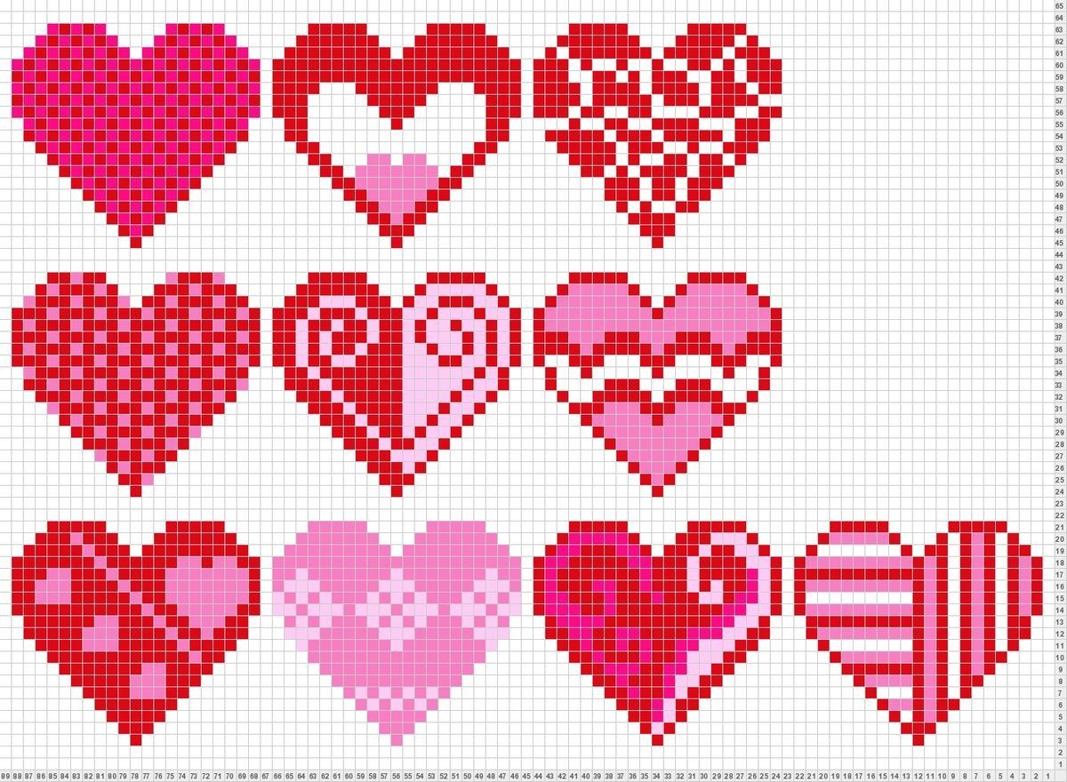 Pin by tonya riesterer on cross stitch pinterest cross stitch tricksy knitter charts heart 5 by deena bankloansurffo Image collections