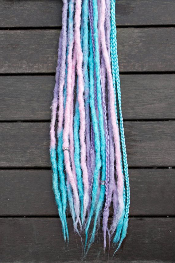 DE Spring Pastels Synthetic DREADS by NimsDreads on Etsy