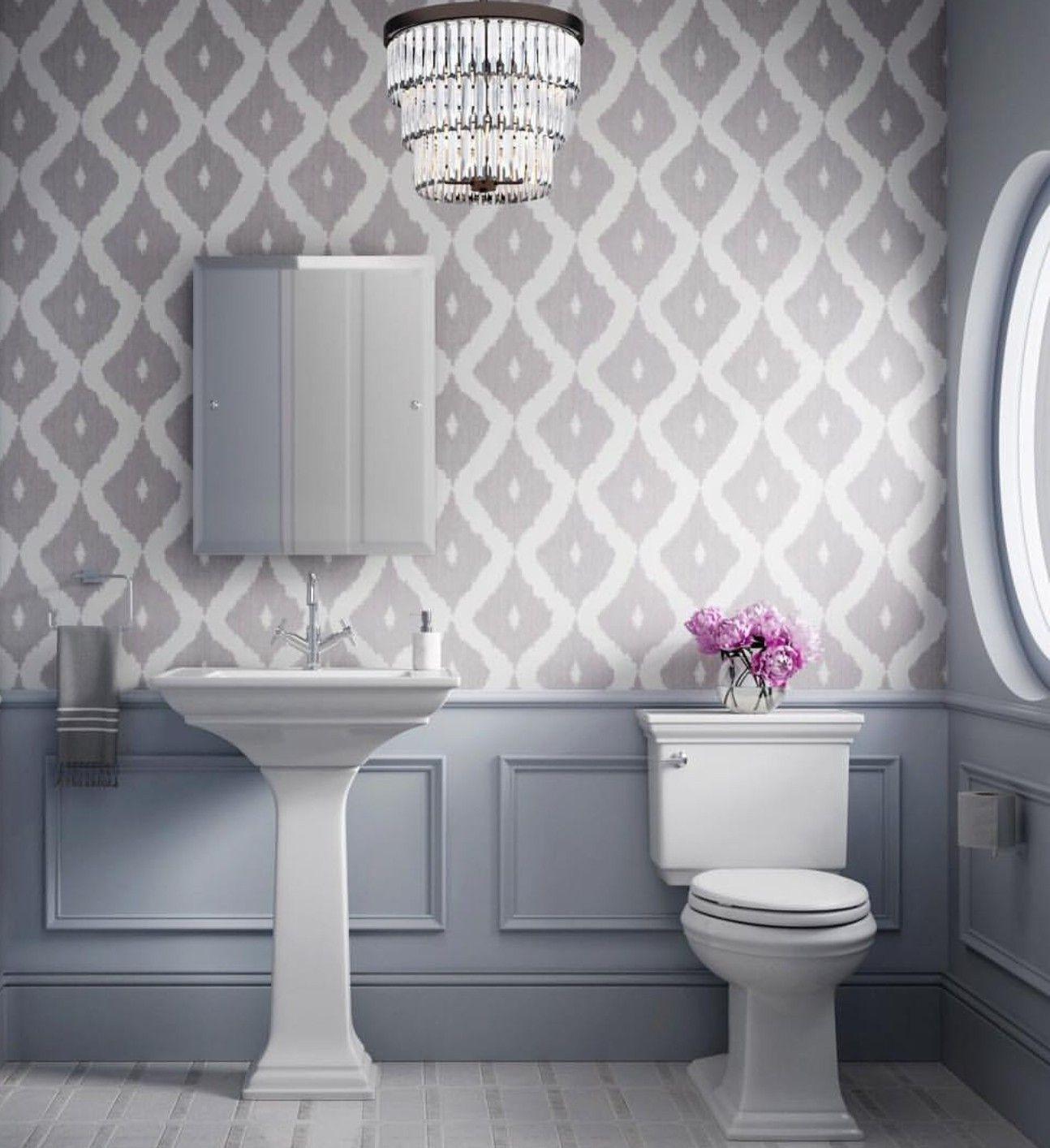 Pin by Kiana💋 on El Baño Grey, white wallpaper, White