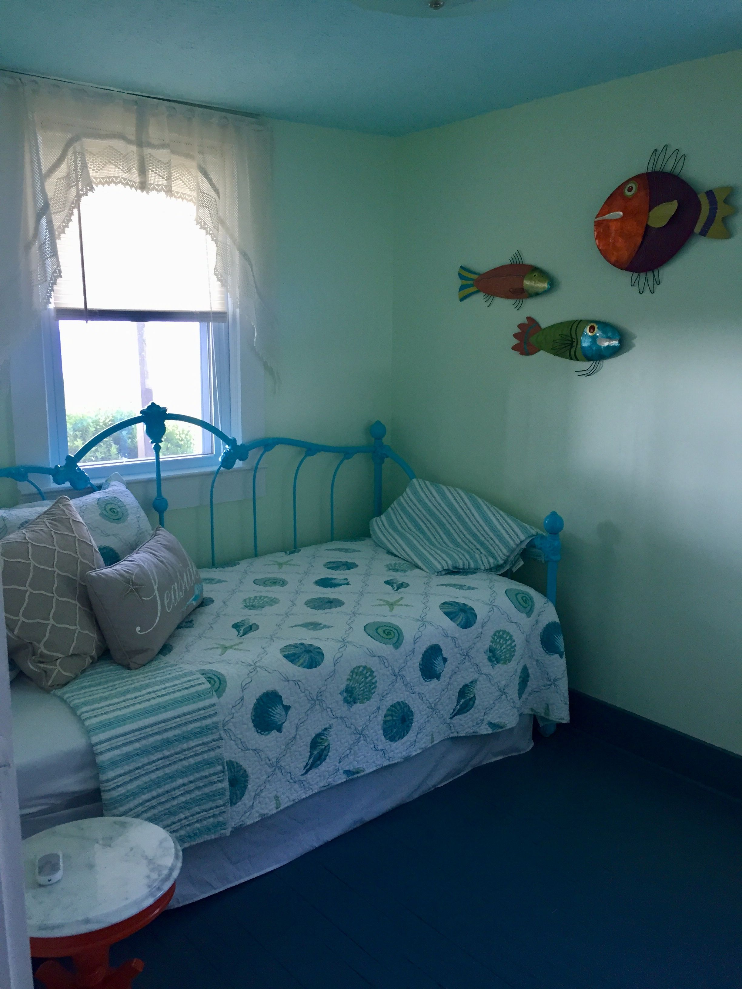 Painted daybed Home decor, Beachy decor, Toddler bed