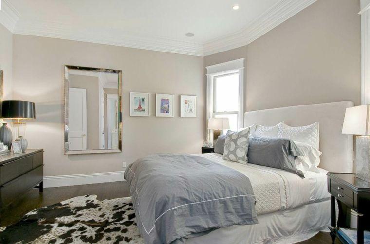 Color Tortora Per Camera Da Letto : Esempio di abbinamento color tortora in una camera da letto con