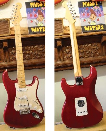 2002 FENDER Stratocaster Standard Trans Red > Guitars Electric Solid Body | Lark Street Music