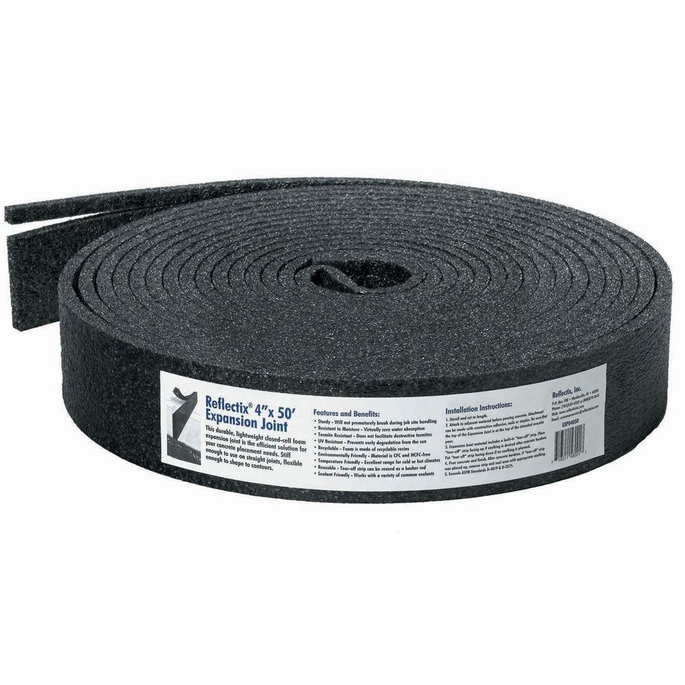 Reflectix 4 In X 50 Ft Expansion Joint For Concrete Exp04050 Expansion Joint The Expanse Concrete Repair Products