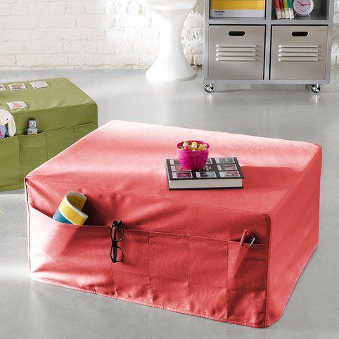 pouf pocket lit d 39 appoint adulte syst me d pli mousse rouge vue 2 derniers achats appart. Black Bedroom Furniture Sets. Home Design Ideas