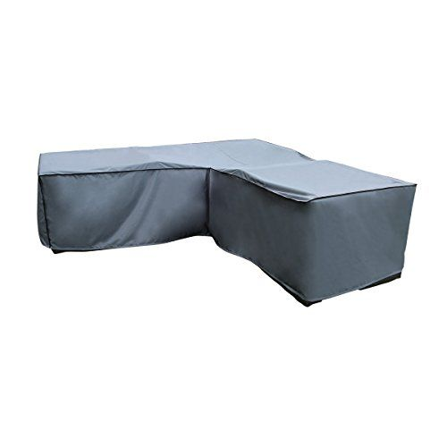 Protective Cover For Corner Sofa Grey 270 X 210 X 85 X 65 90