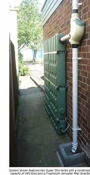 Aboveground Urban Rainwater Harvesting Narrow Spaces