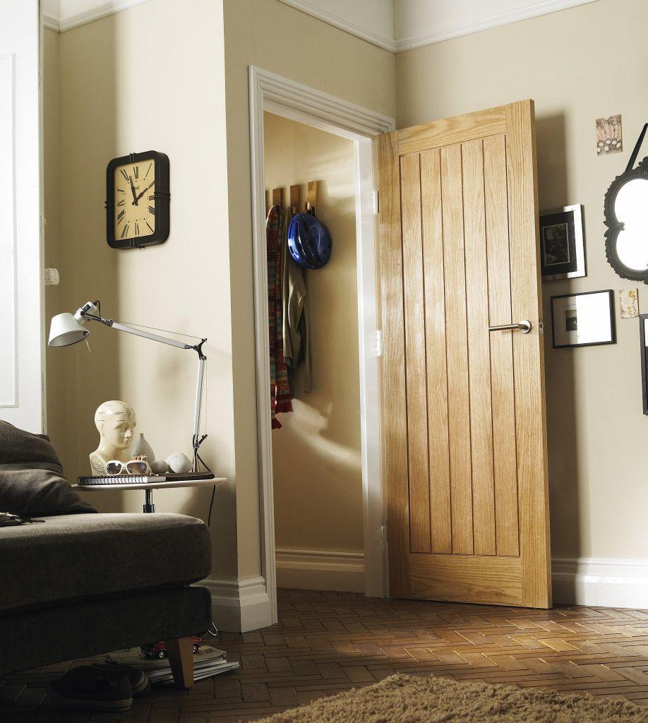 This Style Cottage Oak Veneer Done On Bathroom Door It