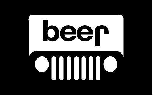 Beer Jeep Vinyl Sticker Decal Black Is Background Sticker Itself