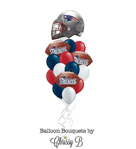 a1eb1dc2 New England Patriots Balloon Bouquet- Giant Helmet Mylar Balloon ...