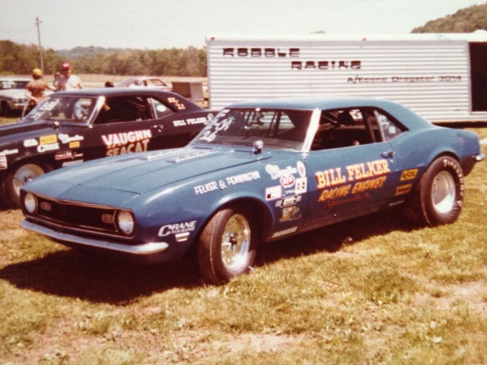 Bill Felker Super Stock Camaro At Ohio Valley Dragway In