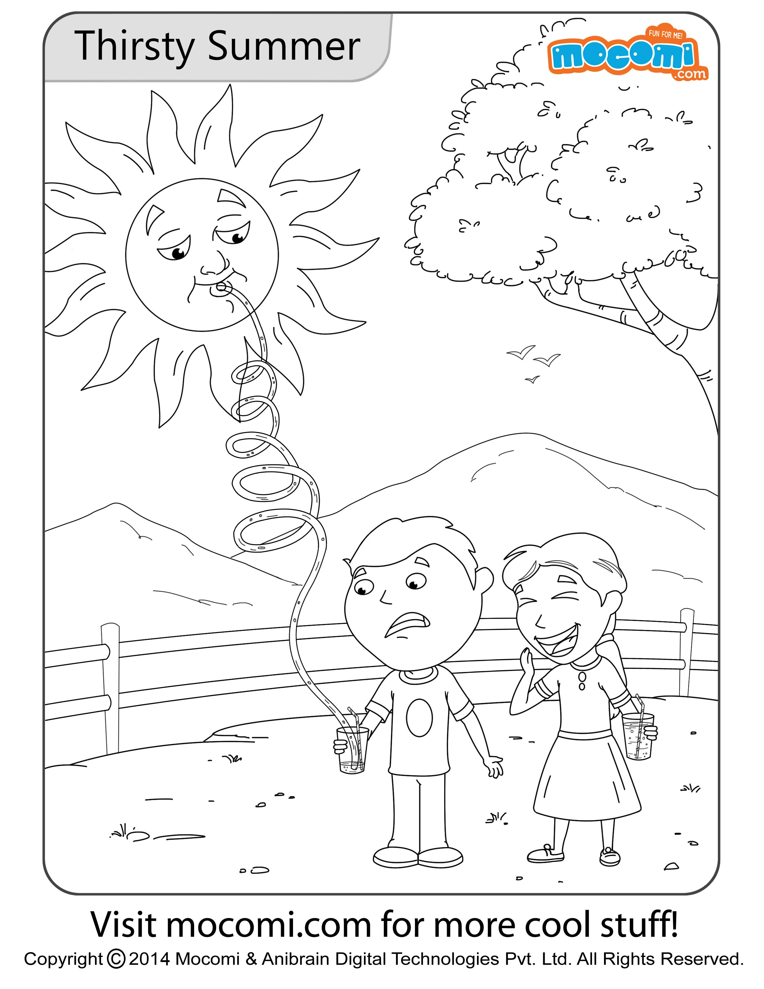 Thirsty summer colouring page jojo colouring pages for kids