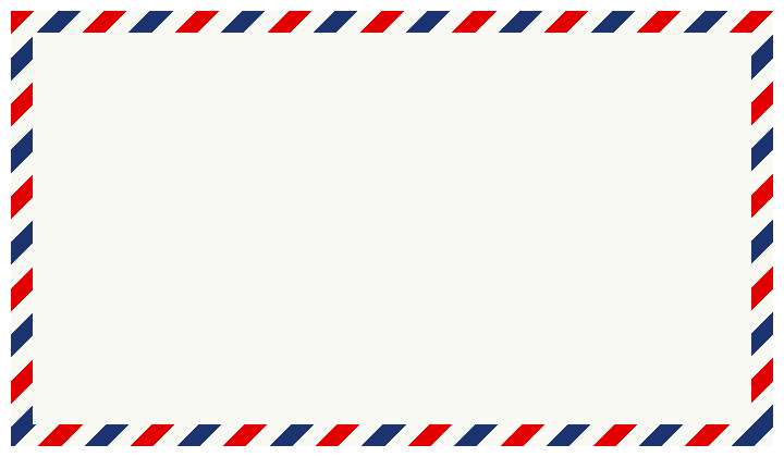 エアメール用海外用封筒のフレーム飾り枠イラストト太めの柄