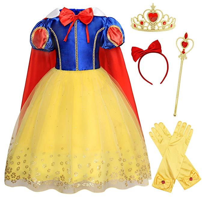 Kids Girls Costume Princess Fairy Tale Dress Up Halloween Cosplay Birthday Party