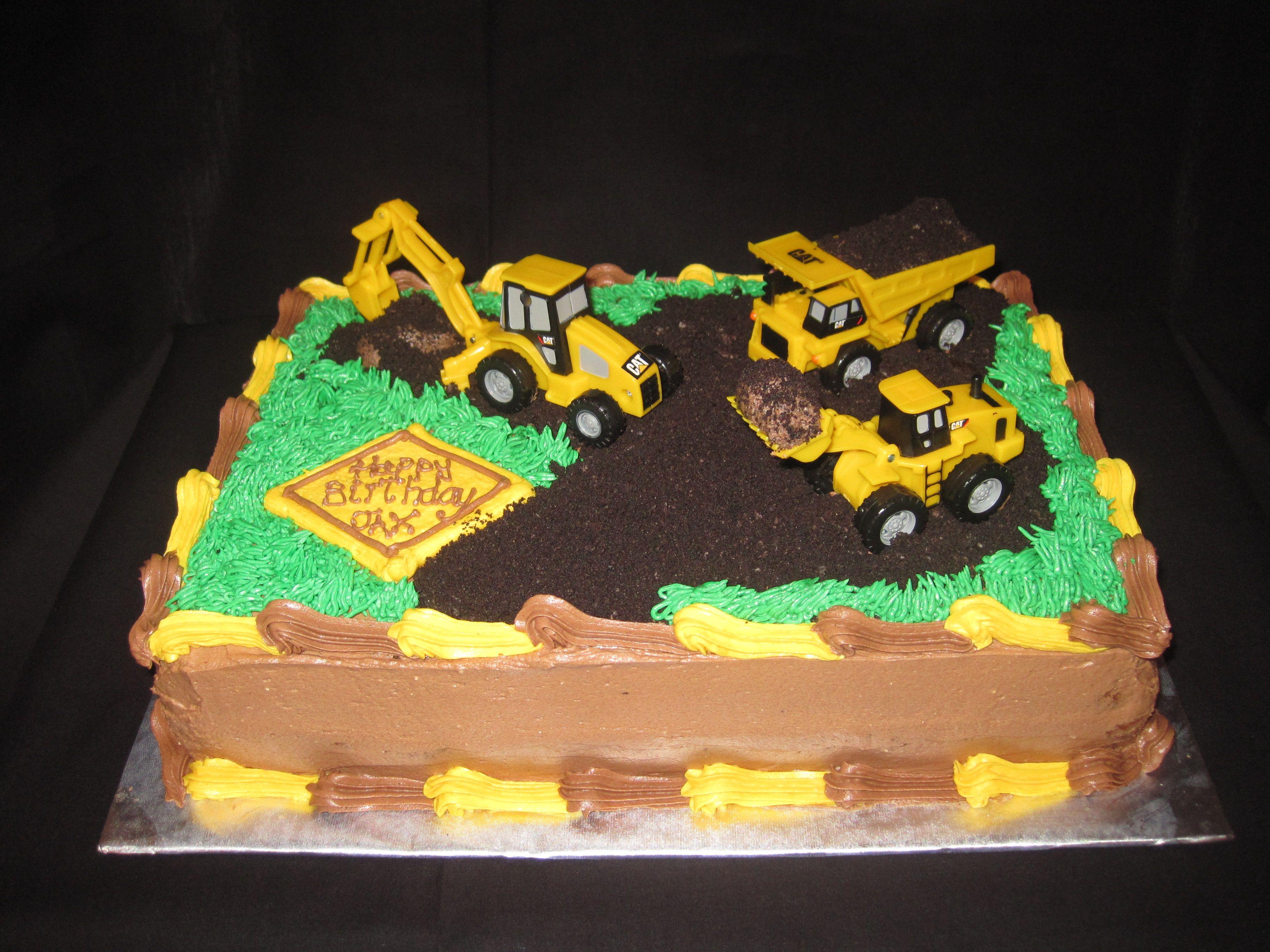 Dump Truck 1st Birthday Cake Dump trucks Birthday cakes and Cake