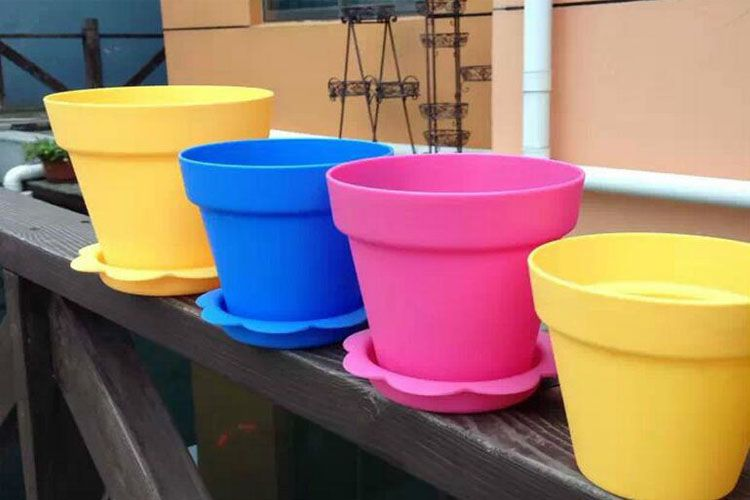 Garden Bright Colored Flower Pots For Plants Bonsai Clearance Plastic Flower Pots Beautiful Flowers Garden Green Flower Pots