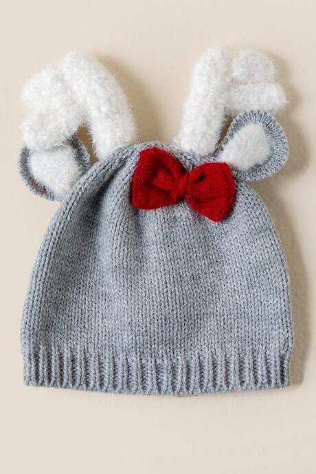 6a4f3613aa5 Mud Pie Deer Bow Knitted Hat