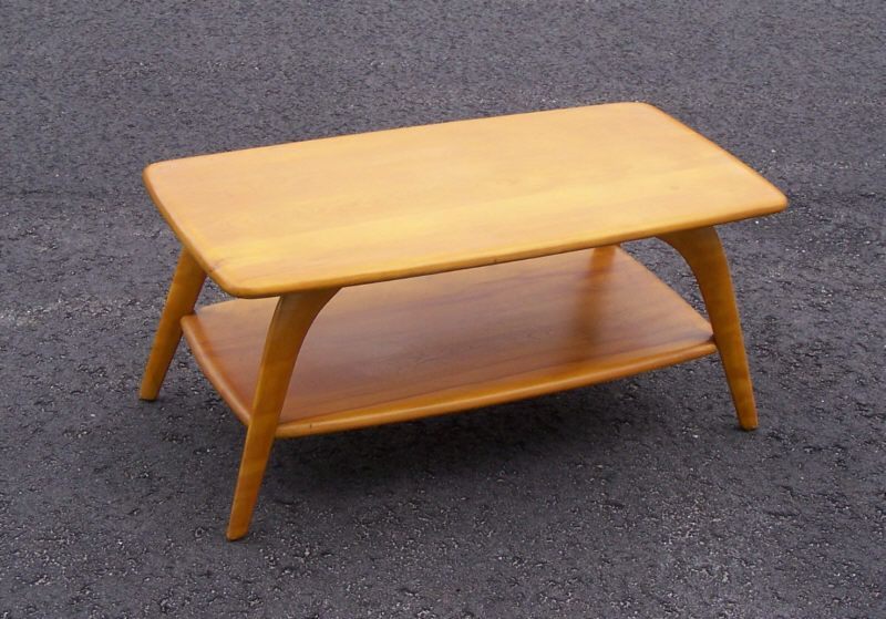 Heywood Wakefield cocktail coffee table m335g c1950 Heywood