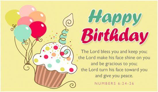 Happy Birthday eCard religious cards and stuff Pinterest - birthday wish template