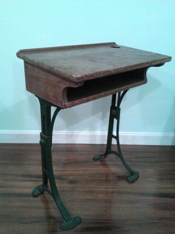 Excellent Vintage School Desk With Cast Iron Legs By Reclaimingmaine Download Free Architecture Designs Xoliawazosbritishbridgeorg