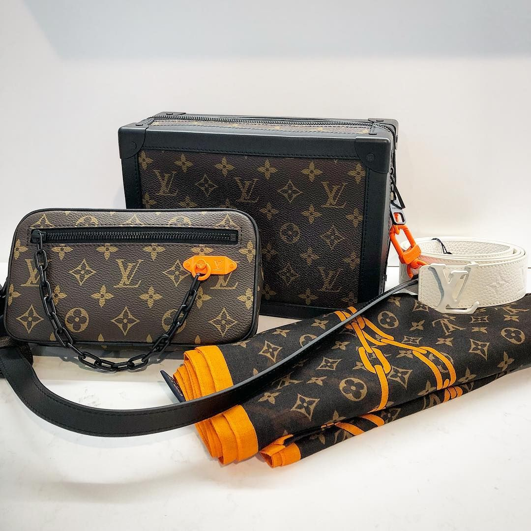 ef07121f4996 The first Louis Vuitton pieces designed by Virgil Abloh have arrived in  flagship LV stores