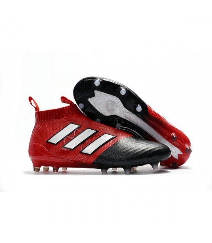 8166e46dd99 Acheter Adidas Ace17+ Purecontrol FG AG Chaussures de Football Pour Homme  Blanc Rouge Noir pas