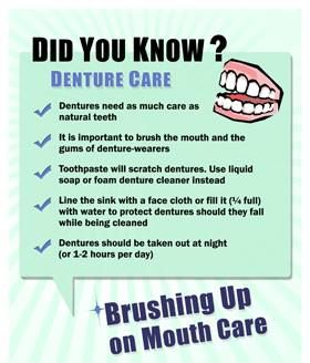 Even if you wear full #dentures, you still must take good care of your #mouth.