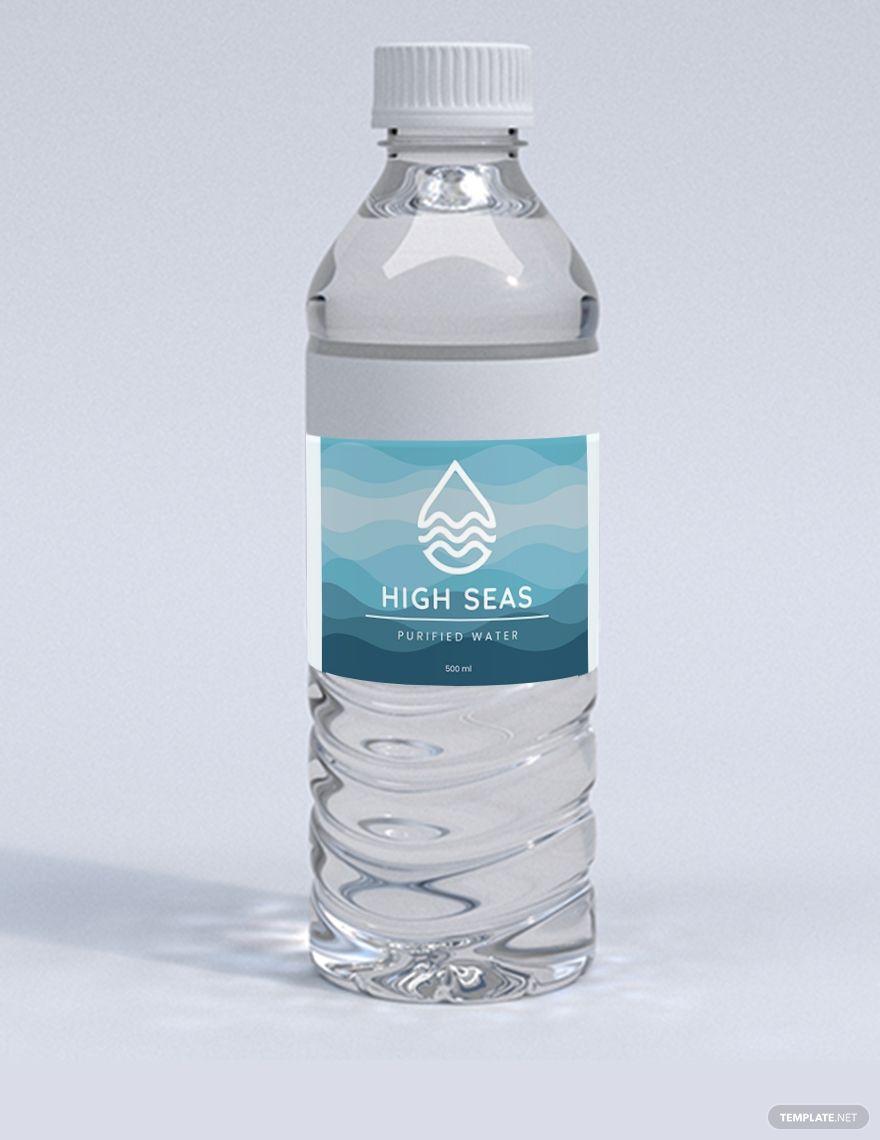 Water Bottle Label Template Word Doc Psd Apple Mac Pages Google Docs Illustrator Publisher Water Bottle Label Design Water Bottle Labels Template Water Bottle
