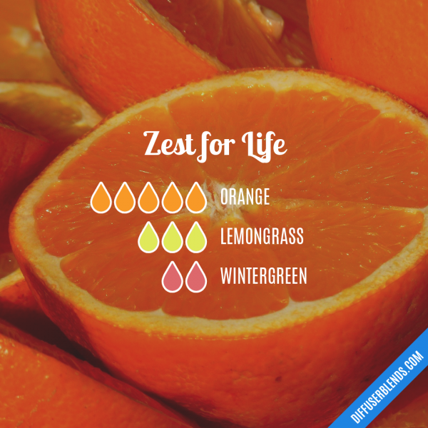 Zest for Life - Essential Oil Diffuser Blend
