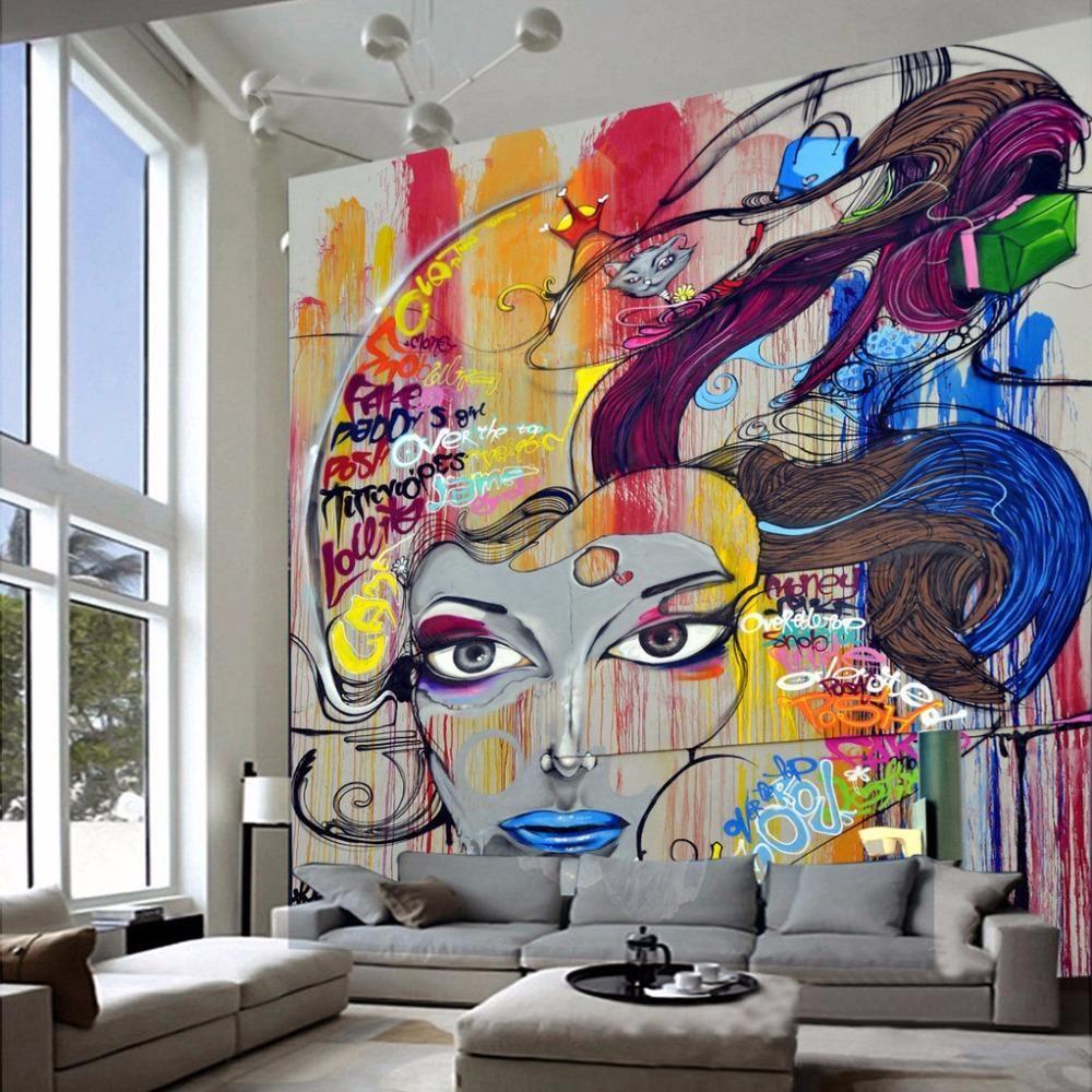 Custom Beauty Graffiti Wallpaper Mural In 2019