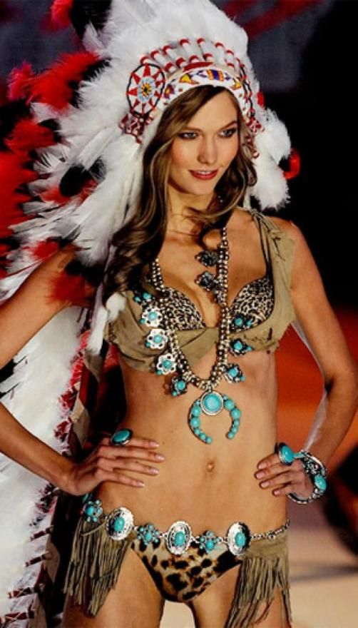 Girl models native indian american