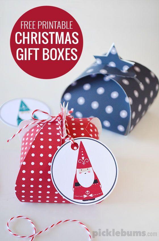 Let S Wrap Free Printable Gift Boxes Picklebums Gift Box Template Printable Diy Christmas Box Free Printable Gifts
