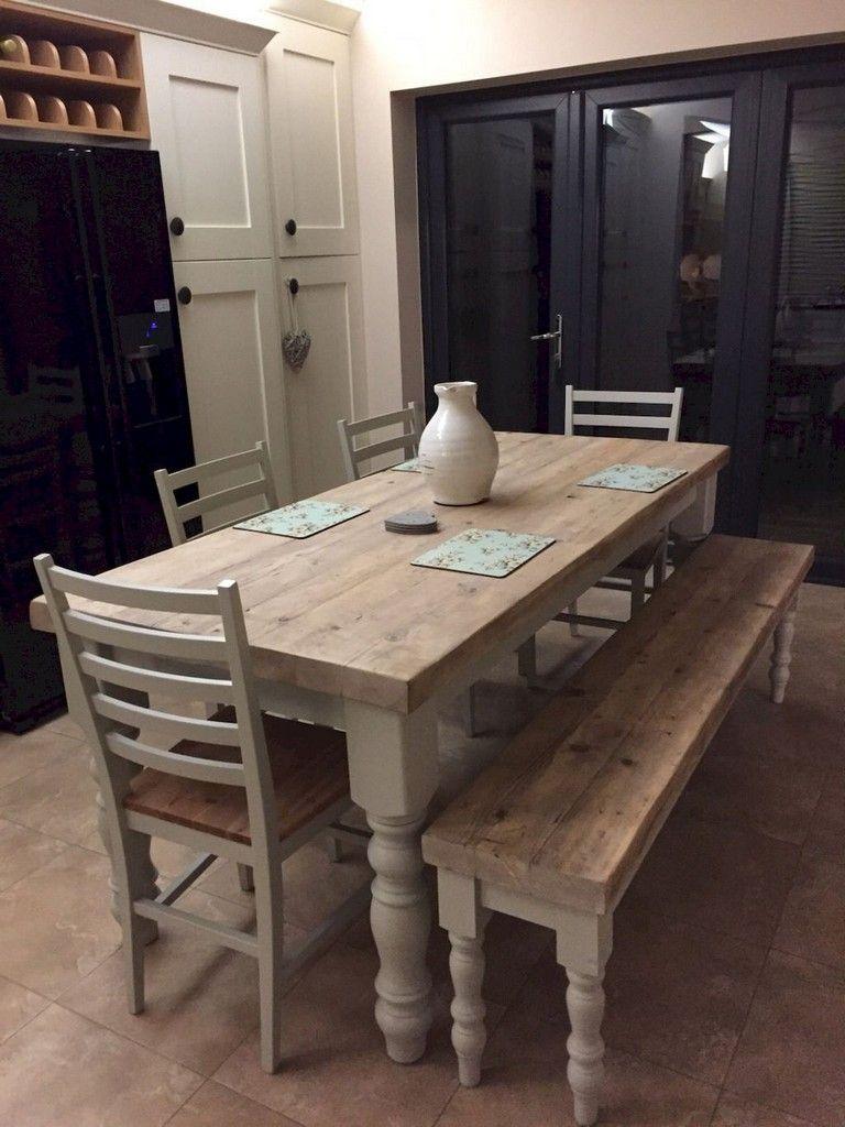 9+ Inspiring On A Budget DIY Farmhouse Table Plans Ideas (With